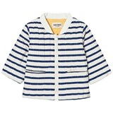 Bobo Choses Navy Stripes Reversible Padded Jacket