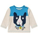 Hatley Beige and Blue Dog Applique Tee
