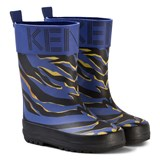 Kenzo Kids Blue Animal Print Wellies
