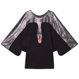 Bang Bang Copenhagen Black and Silver Swan Dress