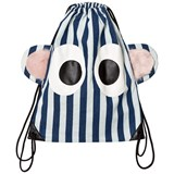Bang Bang Copenhagen Blue and White Stripe Eyes Backpack