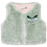 Catimini Aqua Faux Fur Gilet with Dragonfly Applique