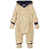 Catimini Yellow Spot and Star Fleece Lined Snowsuit with Detachable Mittens
