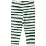 One We Like Green and White Stripe Leggings