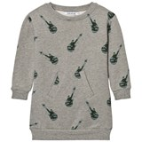 One We Like Grey Melange Guitar Print Sweater