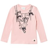 Le Chic Pink Diamond Chain Long Sleeve Tee