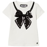 Relish Cream and Black Sequin annd Beaded Bod Tee