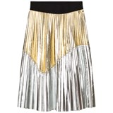 Relish Gold and Silver Pleated Lame Skirt