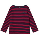 Petit Bateau Fine Knitted Sweater Marine Red