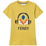 Fendi Yellow Monster Print Tee
