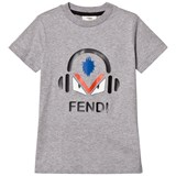 Fendi Grey Monster Print Tee