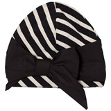 Papu Black and White Vieno Bow Beanie