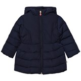 Billieblush Navy Puffer Jacket with Sequin Bow Detail