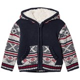 Absorba Blue Fairisle Knit Jacket with Teddy Lining