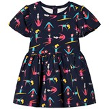 Margherita Kids Black Dancing Print Dress