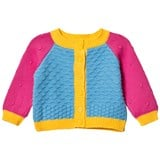 Margherita Kids Blue and Pink Colour Block Cardigan