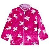 Hatley Pink Unicorn Print Fleece