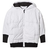 DKNY White Padded Parka with Branded Hood