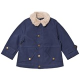 Stella McCartney Kids Blue Luke Jacket with Teddy Collar