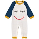 Stella McCartney Kids Cream Face Knit Tommy Footless Babygrow