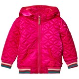 Le Big Pink Quilted Hooded Coat