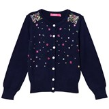 Le Big Navy Star Sequin Cardigan