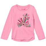 Le Big Pink with Embroidered Detail Long Sleeve Tee