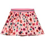 Le Big Pink Star Print Jersey Skirt