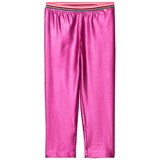 Le Big Pink Shiny Elastic Waist Leggings
