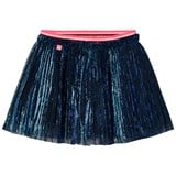 Le Big Navy Glitter Pleat Skirt