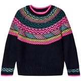 Le Big Navy and Multi Stripe Knit Jumper