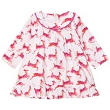 Hatley Cream and Pink Deer Print Dress