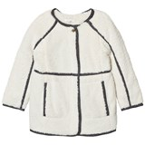 Chloé Grey Marl Coat with Faux Fur Lining
