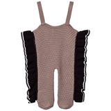 Wolf & Rita Grey Knitted Emanuela Overalls With Feet