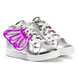 Step2wo Silver Butterfly High Top Trainers