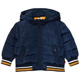 Levi's Navy Padded Puffer Coat with Detachable Hood