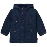 Levi's Navy Padded Hooded Parka with Full Teddy Lining