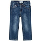 Levi's Blue Mid Wash 511 Slim Fit Jeans with Adjustable Waistband
