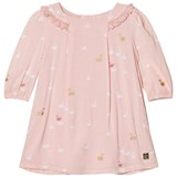 Carrément Beau Pink Swan Print Frill Collar Dress