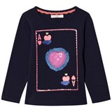 Billieblush Navy Playing Card Sequin Tee