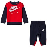 Nike Navy and Red Nike Air Crew Fleece Set