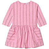 Wynken Hot Pink Stripe Cotton Dress