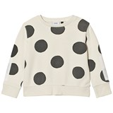 Wynken Cream and Charcoal Dot Sweatshirt