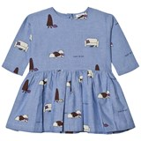 Wynken Blue Chambray Hide and Seek Print Dress