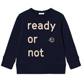 Wynken Navy Ready Or Not Print Sweatshirt