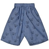 Wynken Blue Chambray Monster Printed Culottes