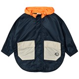 Wynken Navy and Pink Zip Through Raincoat