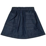 Wynken Denim Stripe Pocket Skirt