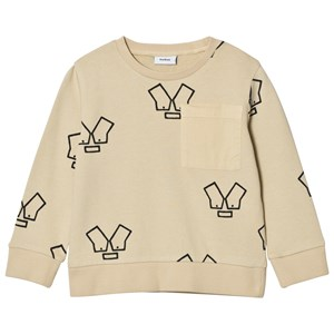 Wynken Stone Monster Face Print Pocket Sweatshirt 6-7 years