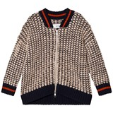 Wynken Pink and Navy Boucle Chunky Knit Jacket